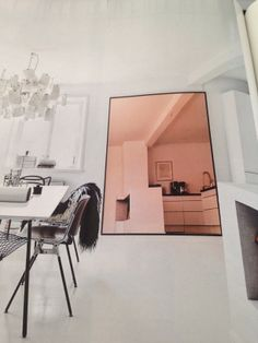 Love the colour palette set off with the mirror