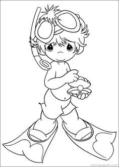 Precious Moments Coloring Pages 34