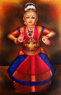 Portrait of Cute Girl in Bharathanatyam Posture Hand Towel for Sale by Asp Arts Scenery Paintings, Dance Paintings, Indian Classical Dance, Hand Towels, Cute Girls, Princess Zelda, Portrait, Prints, Image
