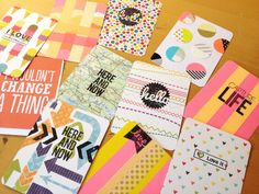 project life filler cards by momentstolivefor. I love the layered washi tape.
