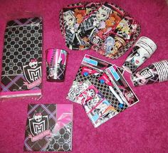Monster High Birthday Party Supplies Lot