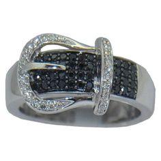 0.50 cttw Black And White Diamond Ring https://www.goldinart.com/shop/animal-or-novelty/0-50-cttw-diamond-ring-2 #14KaratWhiteGold, #BlackDiamonds, #DiamondRings
