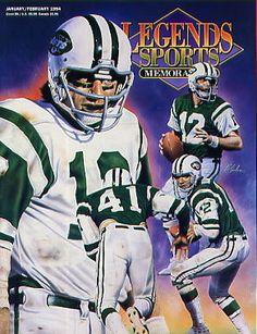 Legends Sports Memorabilia Magazine Jan/Feb 1994 Joe Namath New York Jets
