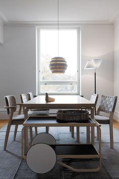 Alvar Aalto, Marimekko, Colorful Interiors, Dining Table, Colours, Living Room, Lighting, Beehive, Furniture