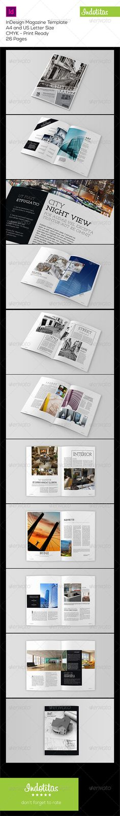 Indesign Magazine Template — InDesign INDD #elegant #magazine • Available here → https://graphicriver.net/item/indesign-magazine-template/7897723?ref=pxcr