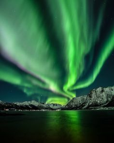 Jens Andre M. Birkeland Northern lights over Hognfjorden.