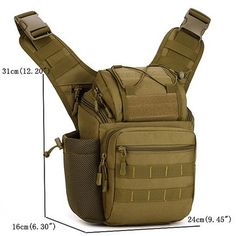 Waterproof Nylon Camera Bag Outdoor Multi-functional Tactical Package Shoulder Crossbody Bag For Men is hot-sale, many other cheap crossbody bags on sale for men are provided on NewChic. Rucksack Backpack, Hiking Backpack, Camera Backpack, Messenger Bag, Camera Bags, Slr Camera, Airsoft, Tactical Sling, Tactical Gear