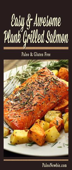 Paleo Cedar Plank-Grilled Salmon with Garlic, Lemon and Dill