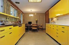 yellow 1960 kitchen. in mint condition!