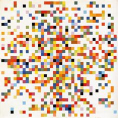 Ellsworth Kelly,  Spectrum Colors Arranged by Chance II 1951 Courtesy the Museum of Modern Art, New York, purchased with funds provided by Jo Carole and Ronald S Lauder © Ellsworth Kelly Collage on paper 97.2 x 97.2 cm (photo courtesy of: http://www.tate.org.uk)
