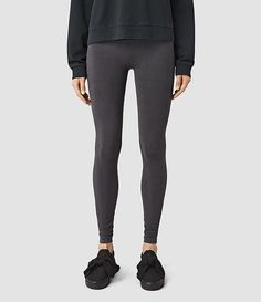 Womens Bri Leggings (Charcoal) - product_image_alt_text_1