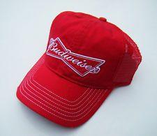 VTG 70s Style BUDWEISER BEER Mesh Snapback Distressed Baseball Trucker Hat NWT