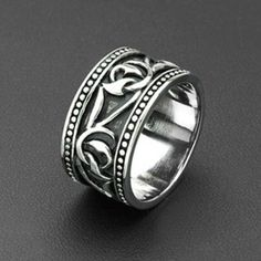 Honor Amongst Men - intricately Woven Tribal Twisted Vine Design Black and Stainless Steel Ring. Wide Rings, Size 10 Rings, Women's Rings, Steel Jewelry, Body Jewelry, Jewellery, Men's Jewelry, Jewelry Ideas, Piercing Labret