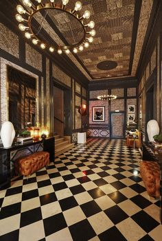 Pin for Later: 14 Practical Design Lessons From a Fantasy Mansion How to Make an Entrance If anyone can teach you a thing or two about making a dramatic first impression, it's Martyn Lawrence Bullard.  Source: Timothy Bell
