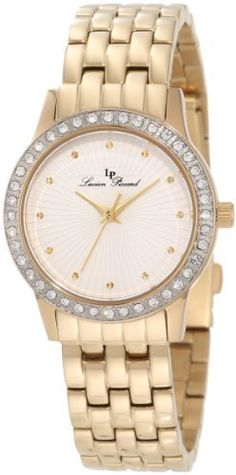 Lucien Piccard Women's 11696-YG-22S Monte Velan White Textured Dial Gold Ion-Plated Stainless Steel Watch Lucien Piccard. $79.99. White textured dial with gold tone hands and hour markers; gold tone ion-plated stainless steel bezel with white crystal accents. Water-resistant to 30 M (99 feet). Japanese quartz movement. Sapphitek crystal; gold ion-plated stainless steel case and bracelet. Gold tone second hand