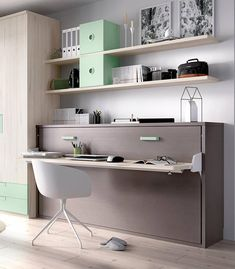 Trendy Home Office Cabinets Murphy Beds 15 Ideas Home Office Space, Home Office Design, House Design, Condo Furniture, Space Saving Furniture, Home Office Cabinets, Home Gym Decor, Modern Murphy Beds, Bedroom Cupboard Designs