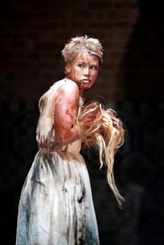 Rose Reynolds as Lavinia in the new RSC Titus Andronicus. Photo by Simon Annand Royal Shakespeare Company, Shakespeare Plays, William Shakespeare, Theatre Stage, Theater, Theatre Reviews, Les Miserables, Culture, Actors