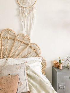 Home Decorators Collection Rugs Bohemian Headboard, Rattan Headboard, Diy Headboards, Full Headboard, Bohemian Interior, Interior Styling, Interior Design, Home Bedroom, Bedroom Decor