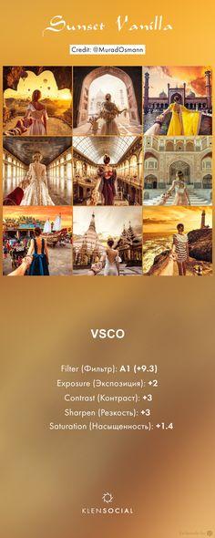 ***Sunset Vanilla*** Графические настройки VSCO//VSCO inspired presets
