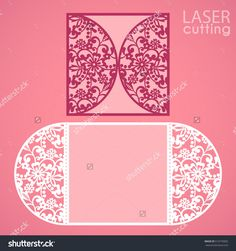 Laser Cut Wedding Invitation Card Template Vector. Die Cut Paper Card With Lace Round Pattern. Cutout Paper Gate Fold Card. Suitable For Greeting Cards, Invitations, Menus. - 510770002 : Shutterstock