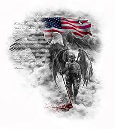 half sleeve tattoo designs and meanings Patriotische Tattoos, Army Tattoos, Military Tattoos, Best Sleeve Tattoos, Body Art Tattoos, Tattoos For Guys, Tatoos, Warrior Tattoos, Cloud Tattoos