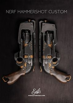 EthisCrea.com's excellent #Hammershot custom, a #Dieselpunk and Steampunk combo. It's a very detailed tutorial.