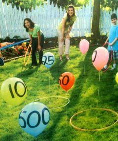 hula-hoop toss cute party game @Aubrey Stewart
