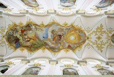 Deckenfresko, St. Peter, München, Bayern, Deutschland