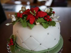 Image result for flowers for christmas cakes
