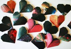 space love origami hearts