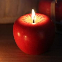 6cm Christmas Apple Candle For Christmas Decorations