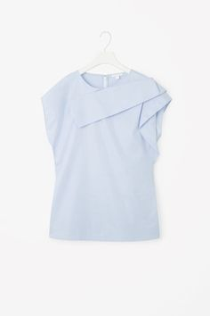 COS image 2 of Folded drape top in Sky Blue