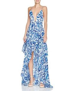 V cut long dresses bloomingdales