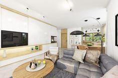 Projekt domu Miriam III 118,1 m2 - koszt budowy - EXTRADOM Simple Bungalow House Designs, Modern Bungalow House, Bungalow House Plans, House Plans Mansion, Dream House Plans, Modern House Plans, Minimal House Design, Small House Design, One Storey House