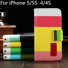 Luxury Hybrid Leather Wallet Flip Pouch Stand Case Cover For Apple iPhone 5 5S iPhone5 iPhone5S Phone Cases Free Shipping