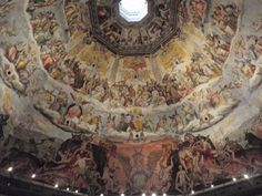 The Duomo in Florence, Italy has one of the few frescos in the world to depict both Heaven and Hell. Travel Around The World, All Over The World, Around The Worlds, Heaven And Hell, Florence Italy, Historical Sites, Cancun, Fresco, Golf Courses