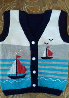 Nusret Hotels – Just another WordPress site Baby Boy Knitting Patterns, Baby Sweater Knitting Pattern, Knitting For Kids, Baby Patterns, Knit Patterns, Baby Boy Vest, Baby Cardigan, Crochet Baby, Crochet Motif