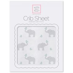 Swaddle Designs Flannelette Fitted Cot Sheet from The Baby Closet