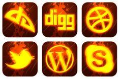 Hot Burning Social Icons - Artwork by GraphicsVibe (Jordan) Social Network Icons, Social Icons, Carving, Hot, Artwork, Work Of Art, Auguste Rodin Artwork, Wood Carvings, Sculptures