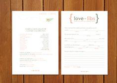 Mad Libs Wedding Program
