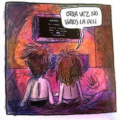 Otra vez.... . . . . . . #dubujo #willlabeta #historieta #tebeo #comic #viñeta #amor #pelis #argentina #español