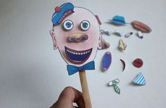 crazy man on a stick. great activity for little ones.