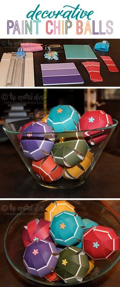 decorative paint chip balls. Bc you have so many from the reno.