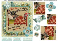 Cheer Up Get Better Topper Pyramid Decoupage on Craftsuprint - Add To Basket!