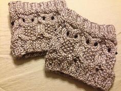 Ravelry: Owl Boot Cuffs pattern by Sarah Reynolds