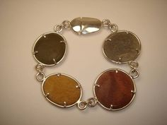 Photo: Pebble bracelet in silver. Commissioned and sold by Veronica Anderson jewellers.