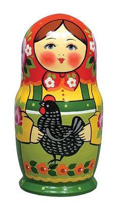 Matryoshka - Russian nesting doll...very cute, for Avery