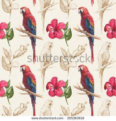 Стоковые фотографии и изображения Parrot Seamless | Shutterstock