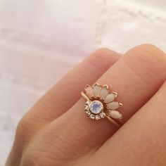 -solid 14kt gold -4x2mm natural Australian opals A show stopping, drop dead gorgeous opal ring that will stack so perfectly with most solitaire rings. Inspired by a magnificent sunrise over the Caribb