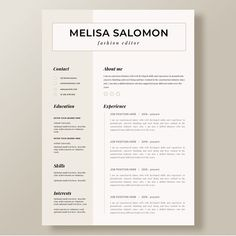 Creative Resume Template In Microsoft Word. Cv With Modern And Minimalistic  Design Day 47 Resume. #resume #microsoftword #editable #cv #resumes ...  Resumes On Microsoft Word